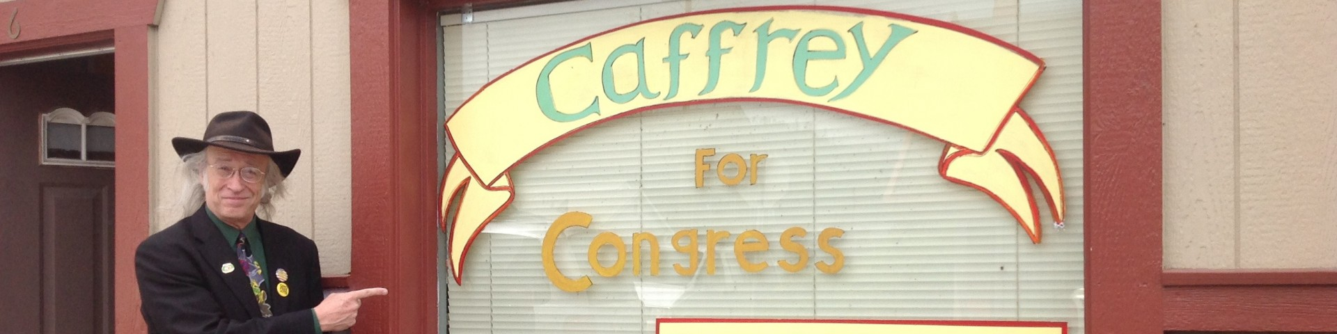In 2018 Elect to Congress Green Democrat Andy Caffrey!